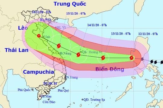 Ba kịch bản đổ bộ của bão Vamco