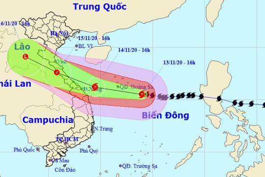 Bão số 13 gây mưa từ Hà Tĩnh đến Quảng Nam