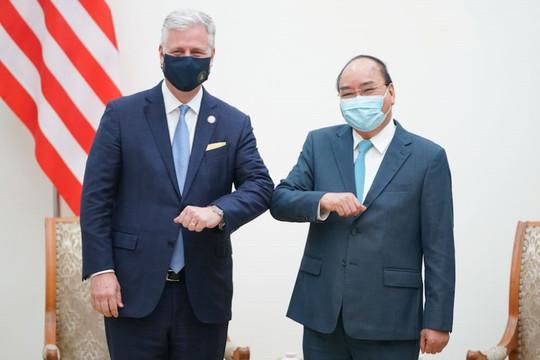 Thủ tướng Nguyễn Xuân Phúc tiếp Cố vấn An ninh quốc gia Hoa Kỳ
