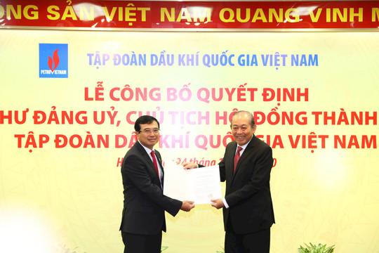 Ông Hoàng Quốc Vượng nhận quyết định Chủ tịch Hội đồng thành viên PVN