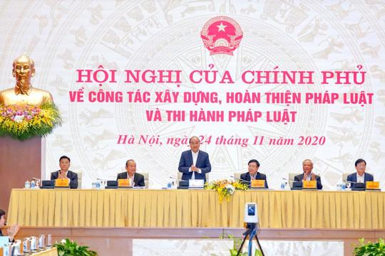Thủ tướng: Đưa đất nước tiến lên bằng thể chế pháp luật