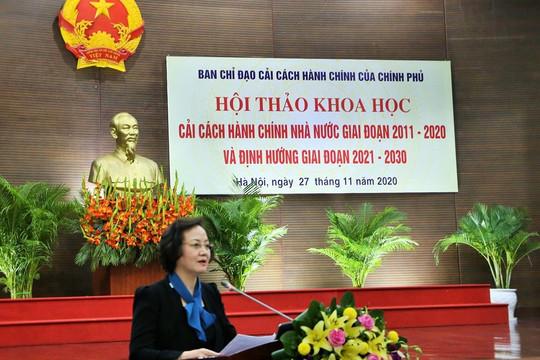 CCHC giai đoạn 2021-2030: Cần tập trung cải cách thủ tục hành chính, xây dựng Chính phủ điện tử