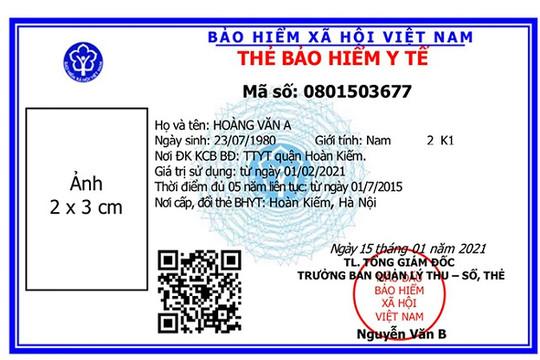 Sẽ sử dụng mẫu thẻ BHYT mới từ ngày 01/04/2021