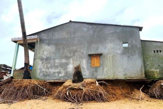 Quảng Ngãi: Sạt lở bờ biển đe dọa cuộc sống 70 hộ dân