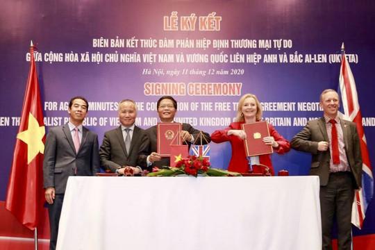 Kết thúc đàm phán và ký Tuyên bố chung về Hiệp định Thương mại tự do Việt Nam-Anh