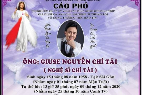 Lễ viếng cố nghệ sĩ Chí Tài tại Việt Nam được tổ chức vào 10h sáng nay 12/12