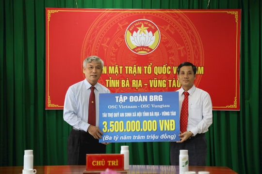 OSC Việt Nam, thành viên Tập đoàn BRG tài trợ 3,5 tỷ đồng cho Quỹ An sinh xã hội tỉnh Bà Rịa – Vũng Tàu