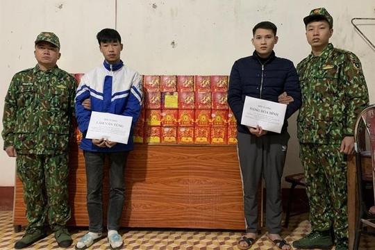 Bắt 2 đối tượng vận chuyển 250kg pháo từ Trung Quốc vào Việt Nam