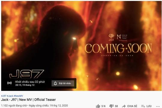 Jack tung teaser MV cho màn comeback cuối năm