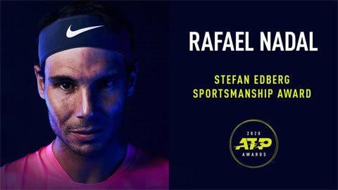 Nadal nhận giải 'Tinh thần thể thao Stefan Edberg' lần thứ tư