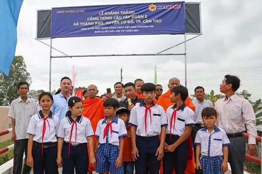 Vietbank tài trợ xây cầu Tập đoàn 2, xã Thạnh Phú, Cần Thơ