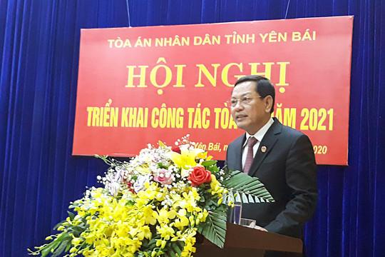 TAND hai cấp tỉnh Yên Bái triển khai công tác Tòa án năm 2021
