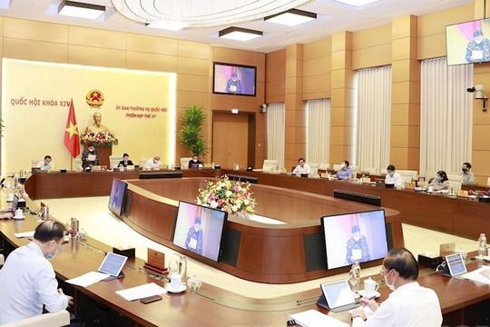 Phiên họp thứ 52 UBTVQH: Cho ý kiến về dự thảo báo cáo công tác nhiệm kỳ 2016-2021 của TANDTC