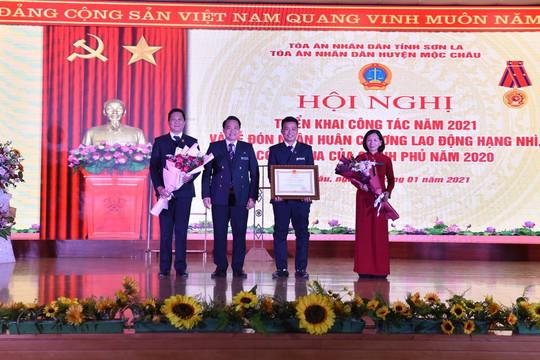 TAND huyện Mộc Châu tổ chức Hội nghị triển khai công tác năm 2021 và đón nhận Huân chương Lao động hạng nhì