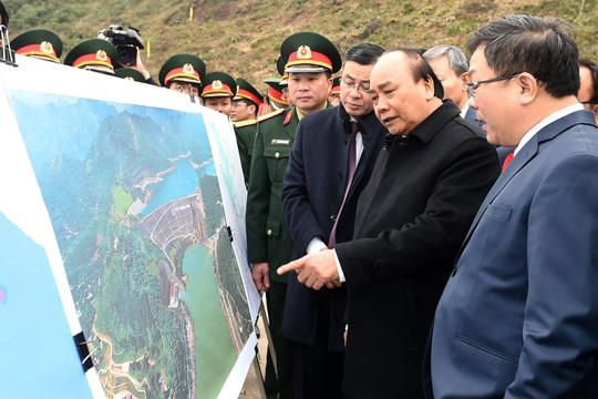 Thủ tướng dự lễ khởi công công trình Nhà máy thuỷ điện Hoà Bình mở rộng