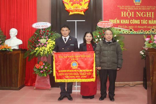 TAND huyện Phú Lộc nhận Cờ thi đua giai đoạn 2015-2020