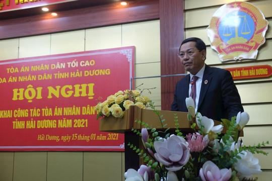 TAND hai cấp tỉnh Hải Dương tổ chức Hội nghị triển khai công tác năm 2021