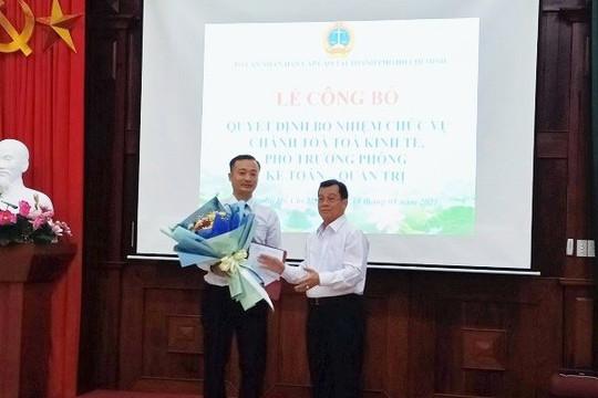 TAND cấp cao tại TP.HCM: Công bố quyết định bổ nhiệm Chánh Tòa kinh tế