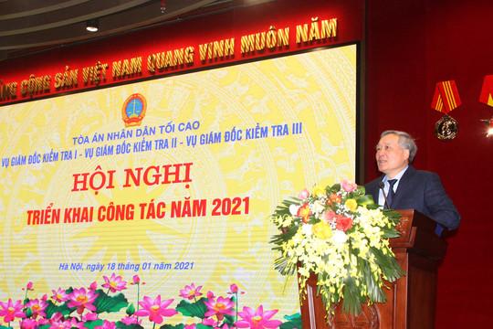 Các Vụ Giám đốc kiểm tra TANDTC triển khai công tác năm 2021