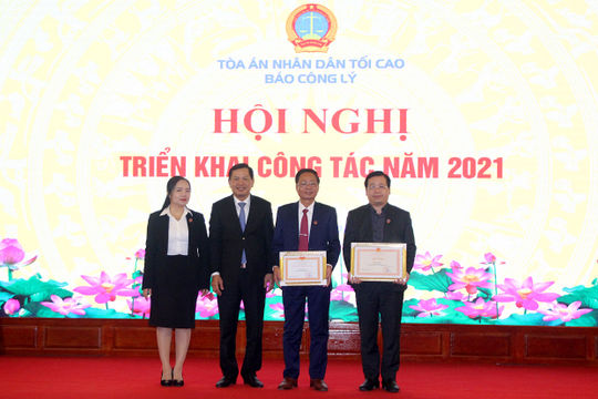 Báo Công lý tổ chức Hội nghị triển khai công tác năm 2021