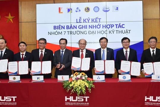 7 Trường đại học kỹ thuật lớn của Việt Nam ký kết bản ghi nhớ hợp tác