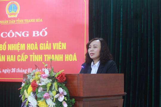 TAND tỉnh Thanh Hóa trao Quyết định bổ nhiệm Hòa giải viên tại Tòa án