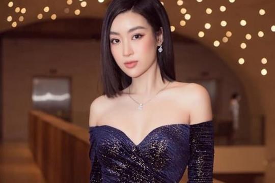Hoa hậu Đỗ Mỹ Linh khoe 3 vòng hoàn hảo trong váy dạ hội
