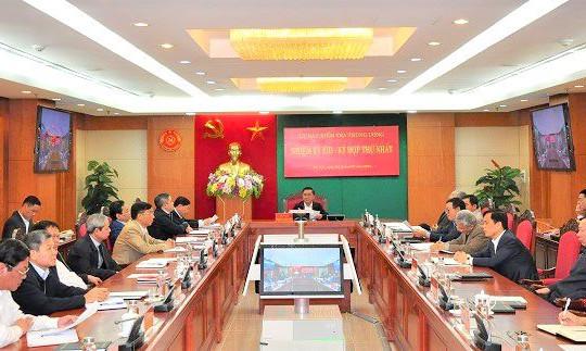 Ủy ban Kiểm tra Trung ương khóa XIII họp Kỳ thứ nhất bầu và phân công nhân sự