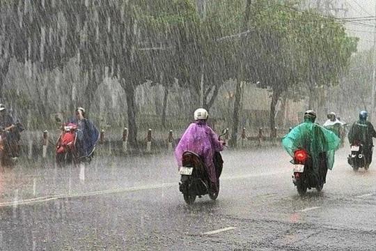 Từ chiều tối mai một số nơi ở Bắc Bộ có mưa dông, đề phòng lốc xoáy, mưa đá