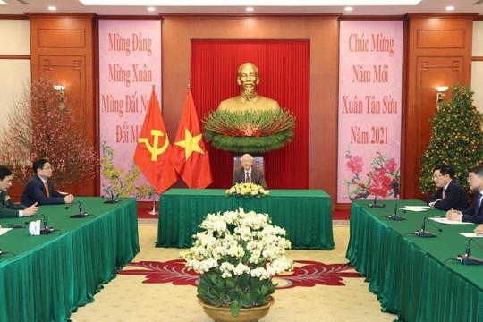 Tổng Bí thư, Chủ tịch nước điện đàm với các nhà lãnh đạo Đảng Trung Quốc và Liên bang Nga