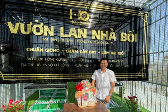 Nghệ nhân Hồng Quân: Từ bỏ sự nghiệp kinh doanh để trồng lan