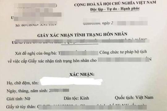Làm giả giấy xác nhận hôn nhân để lấy vợ mới