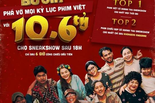 """""""Bố Già"""" phá vỡ mọi kỷ lục phim Việt cán mốc 10,6 tỷ đồng sau 6 giờ công chiếu"""