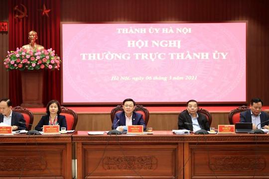 Thường trực Thành ủy Hà Nội thảo luận về dự thảo 6 chương trình công tác toàn khóa