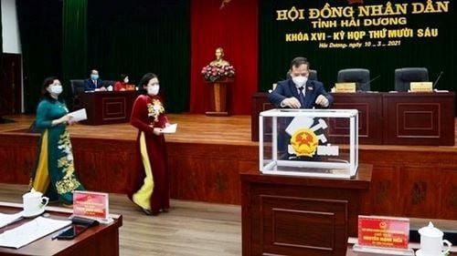 Hai Giám đốc Sở trúng cử chức danh Phó chủ tịch UBND tỉnh Hải Dương