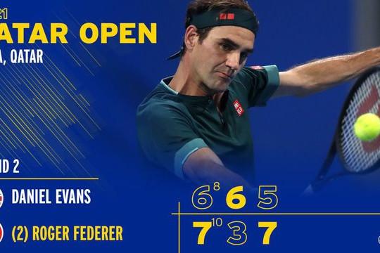Roger Federer vào tứ kết Qatar mở rộng 2021