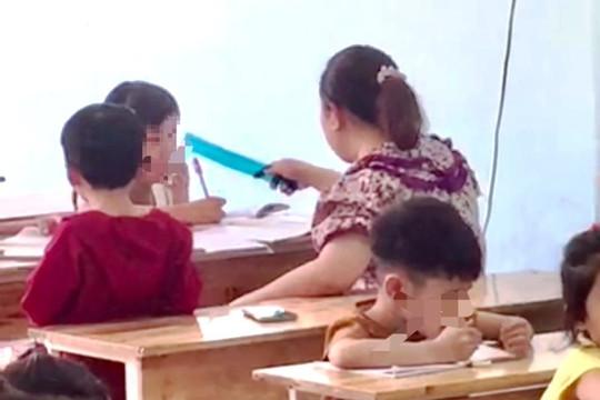 Xác minh clip người phụ nữ la lối, dùng thước đánh liên tiếp học sinh