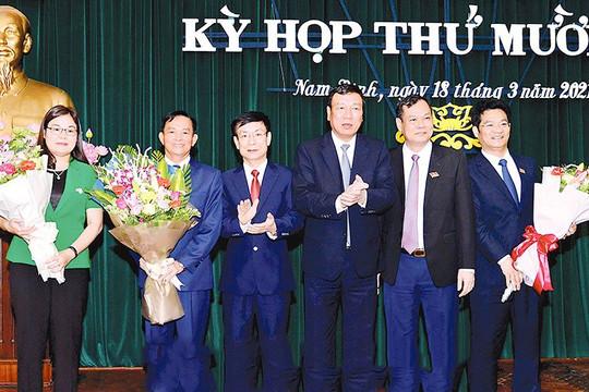 Nam Định có 1 Phó Chủ tịch HĐND và 2 Phó Chủ tịch UBND tỉnh mới
