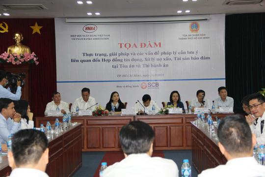 TAND TP Hồ Chí Minh và Hiệp hội Ngân hàng Việt Nam toạ đàm xử lý nợ xấu của các tổ chức tín dụng