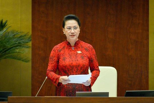 Quốc hội chính thức miễn nhiệm Chủ tịch Quốc hội Nguyễn Thị Kim Ngân