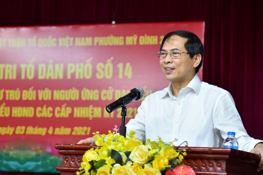 100% cử tri nơi cư trú tín nhiệm giới thiệu ông Bùi Thanh Sơn ứng cử đại biểu Quốc hội khóa XV