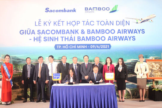 """Chủ tịch Sacombank tại lễ ký kết hợp tác toàn diện với Bamboo Airways: """"Hai thương hiệu, triệu giá trị"""""""