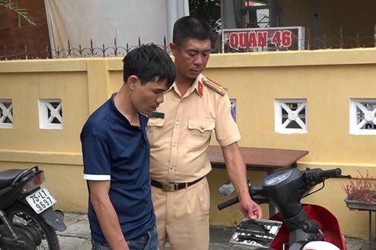 Trung tá CSGT truy bắt đối tượng cướp giật tài sản