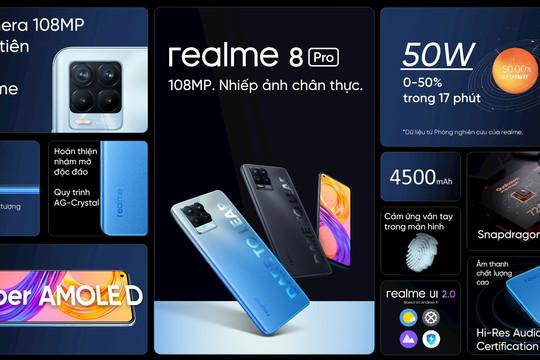 Realme 8 series ra mắt với cảm biến camera 108 MP