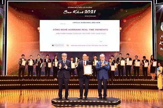 Agribank Realtime Payments - Sản phẩm công nghệ thông tin xuất sắc trong lĩnh vực Ngân hàng đạt Giải thưởng Sao Khuê 2021