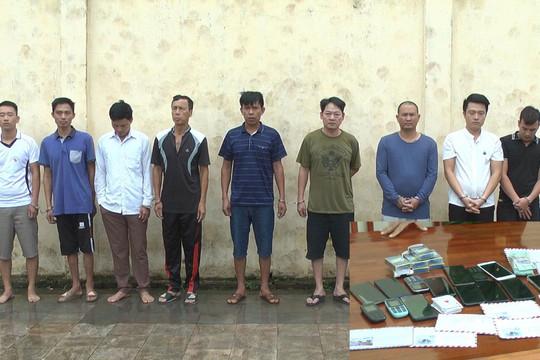 Bắt giữ 18 con bạc say sưa sát phạt trong dịp nghỉ lễ