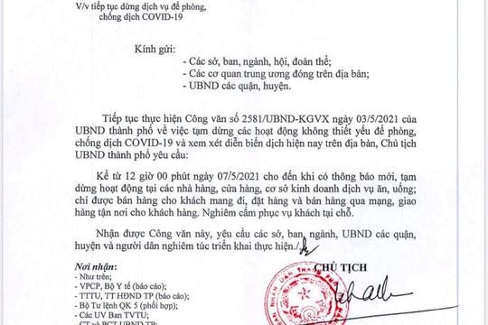Đà Nẵng dừng phục vụ khách hàng ăn uống, giải khát tại chỗ từ 12 giờ ngày 7/5