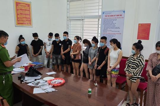 Nhóm thanh niên tổ chức sử dụng trái phép ma túy trong khách sạn
