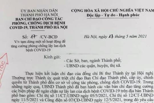 Hà Nội chỉ đạo tạm dừng hoạt động sân golf từ 12 giờ ngày 13/5