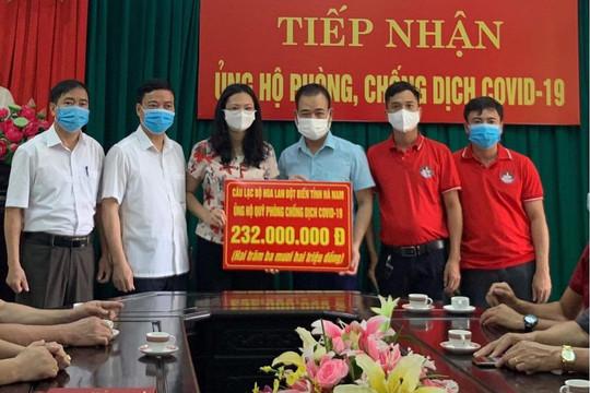 CLB Hoa lan đột biến Hà Nam kêu gọi hơn 300 triệu đồng ủng hộ phòng chống dịch COVID-19